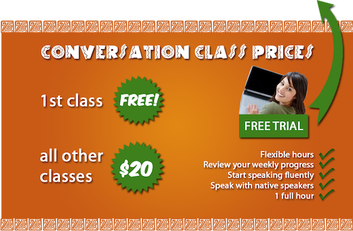 spanish conversation classes prices